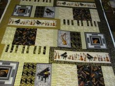 Symphony in B quilt that I made for my musical son.