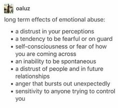 I'm not being emtionally abused (not that I'm aware of it, I'm single and my parents love me so...) but I already do like 99% of these things. #ToxicParenting