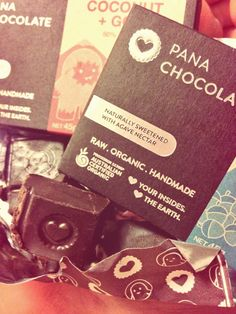 I am obsessed with Pana Chocolate! It's raw, organic, handmade and made of cocao. Made in Australia :)