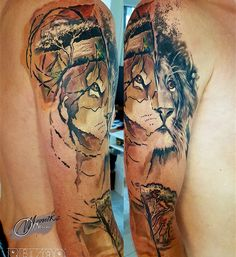 #tattoo #armtattoo #sleeve #lion
