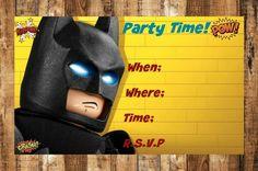 Digital Birthday Party Invitation,Digital Lego Batman Birthday Party Invitation,Lego Batman,Birthday Party Invitation,Lego Batman Birthday by AbushelandapecCrafts on Etsy