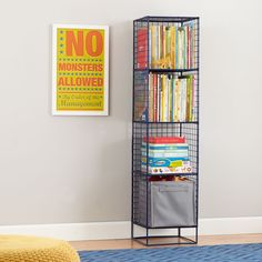 Shop On the Grid Modern Steel Wire Bookcase (Navy).  Inspired by the functionality of steel lockers, our On the Grid Bookcase was designed to fulfill all your elementary storage needs.