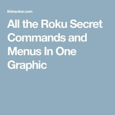 All the Roku Secret Commands and Menus In One Graphic Movie Hacks, Tv Hacks, Netflix Hacks, Secret Menu, The Secret, Tv Without Cable, Cable Tv Alternatives, Free Tv And Movies, Free Tv Channels