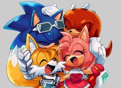 T'is cute, though I wish Sally was there too - right next to Sonic. X3