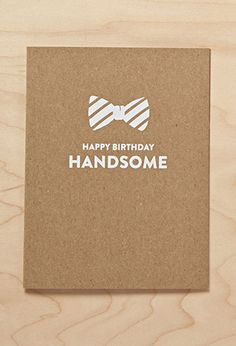 Sugar Paper Hello Handsome Card | FOREVER21 | #f21branded