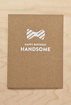 Sugar Paper Hello Handsome Card | FOREVER21 | #f21branded