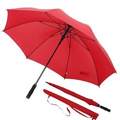 Esnbia Windproof Teflon Golf Umbrella Unbreakable Travel Large Size Auto Open 210T Pongee Fabric with Rain Repellent Treatment 60 MPH Lightweight Design ** For more information, visit image link.