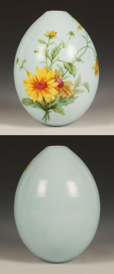 Porcelain Floral Easter Egg