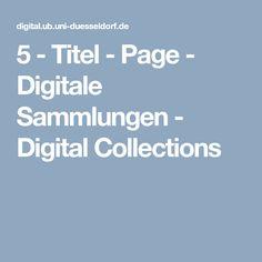 5 - Titel - Page - Digitale Sammlungen - Digital Collections