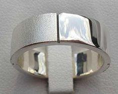 Twin Finish Sterling Silver Wedding Ring   UK Made! Wedding Ring For Him, Cool Wedding Rings, Sterling Silver Wedding Rings, Twins, It Is Finished, Beautiful, Gemini, Twin
