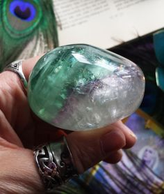 Beautiful Light-Filled XL Rainbow Fluorite by LunaBlueBoutique