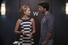 """Jane The Virgin -- """"Chapter Thirty-Three"""" -- Image Number: -- Pictured (L-R): Yael Grobglas as Petra and Justin Baldoni as Rafael -- Photo: Tyler Golden/The CW -- © 2016 The CW Network, LLC. All rights reserved. Jane The Virgin, Petra, Jane And Rafael, Confessions Of A Shopaholic, Celebrity Stars, Getting Back Together, Photo Black, Beautiful Blouses, 2 Photos"""