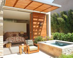 Decorative Small Teak Patio Cover with Beach Style Look - Teak Patio Cover – One of the Most Popular Patio Cover Selection New Ideas Love IT! Your Space Fall 2015 #SmartIdeas #decoratingareasideas Cool!  #BeautifulPlants #PalmTrees  #BuyPalmTrees RealPalmTrees.com #home