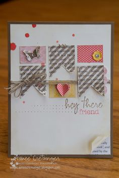 Hey There Friend stamp from the Paper Pumpkin welcome kit by Stampin' Up!