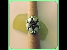 Honeycomb & Hourglass Beaded Ring - YouTube