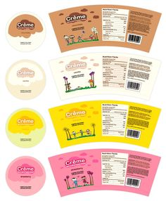 Creme Ice Cream Print and Packaging