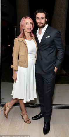 Cute couple: Film director Sam Taylor-Wood and her actor husband Aaron Taylor-Johnson also...