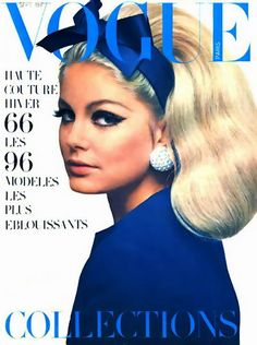 1966 - French Vogue - cover photo of Kecia Nyman by Guy Bourdin. Vogue Magazine Covers, Fashion Magazine Cover, Fashion Cover, 1960s Fashion, Vintage Fashion, Trendy Fashion, Vogue Fashion, Paris Fashion, School Fashion