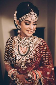 Gorgeous bridal vintage jewelry for wedding. See more on wedmegood.com #wedmegood #indianwedding #indianbride #jewellery #jewelry #necklace #earrings #hair #hairgoals #ornament #bangle #choker #jewelryvintagebracelet