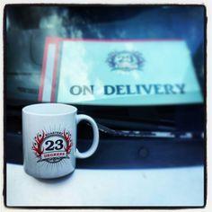 Happy Wednesday! On Delivery! #23degreesroastery #23drmug #Toronto #coffee #local #GTA #certifiedorganic #certifiedfairtrade #ontheroad #ondelivery #Wednesday #humpday #fresh