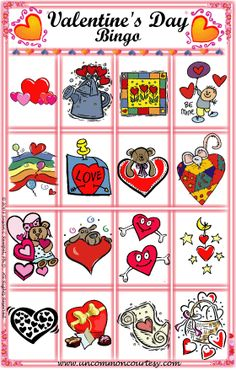 Holiday Bingo Games with Christian Themes Valentine Bingo, Valentines Day Party, Printable Bingo Games, Holiday Games, Bingo Cards, Fun Games, Party Themes, Church Ideas, Prints