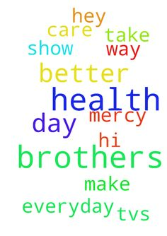 Pray for my brothers health -  Hi please pray for my brothers health to get better everyday, I pray to the lord to take care of my brothers health, make him better day by day, hey lord please show him your mercy and way, TVs lord you lord thank you all. Amen  Posted at: https://prayerrequest.com/t/ERQ #pray #prayer #request #prayerrequest