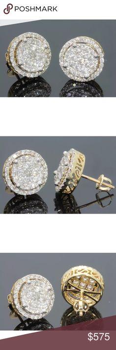 1.35 carat 10k yellow gold diamond earrings 1.35 carat 10k yellow gold diamond earrings Jewelry Earrings