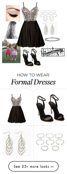 """""""Homecoming Dance W/ Riley"""" by katiebug101s on Polyvore featuring moda, Forever 21, fun, party, highschool, Homecoming e freshman"""