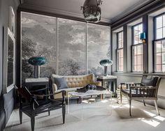 Gray living room San Francisco designer Eche Martinez's room for the 2015 San Francisco Decorator Showcase. Photo: Christopher Stark