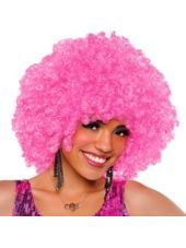 Runway Pink Afro Wig - Party City