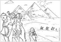 The pyramids colouring page