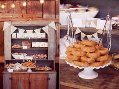 dessert bars - photo by Dreamlove Photography http://ruffledblog.com/bishop-farm-wedding