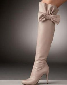Valentino Bow-Topped Over-the-Knee Boots | ShoeBlog