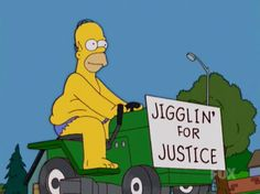 Jigglin' for justice Simpson style