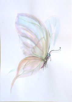 Watercolour paintings – Flying butterfly Original watercolor painting – a unique product by Radikacolours on DaWanda