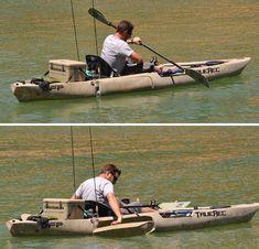 DFP Fishing Kayak with Retractable Pontoons 3