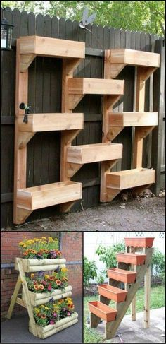 Whether you are an apartment dweller have a small back yard or just want to maximise your growing space vertical gardens are both beautiful and practical Vertical planter. Plantador Vertical, Jardim Vertical Diy, Vertical Planter, Raised Planter, Vertical Vegetable Gardens, Vertical Garden Diy, Vegetable Gardening, Hydroponic Gardening, Indoor Vertical Gardens