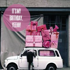 It's my birthday today! - this image reminds me of grand budapest hotel, all the little pretty pink boxes!