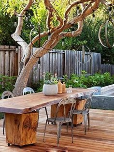 Large Outdoor & Indoor String Lights make any outdoor or indoor setting magical! Outdoor or indoor string lights are essential for every holiday, event or celebration such as birthdays, weddings, pool and dinner parties. Rustic Backyard, Rustic Outdoor, Backyard Patio, Backyard Landscaping, Rustic Deck, Rustic Table, Backyard Storage, Porch Garden, Wedding Backyard