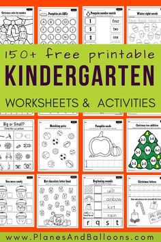 Fun free printable kindergarten worksheets - math worksheets, alphabet, numbers and letters, tracing worksheets and more! - A Servant's Heart Homeschool - Education Free Kindergarten Worksheets, Kindergarten Readiness, Teacher Worksheets, Homeschool Kindergarten, Free Printable Worksheets, Free Preschool, Free Printables, Kindergarten Schedule, Kindergarten Writing