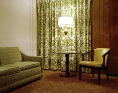 Stephen Shore - Motel Room - Avacado green w/ rust colored semi-shag carpet. Thank God we're no longer stuck in fashions of the fifties.(There are exceptions, of course.) http://cityzenart.blogspot.com/2010/10/stephen-shore.html