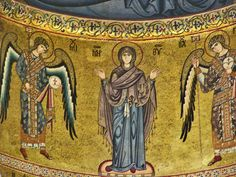 Anonymous. Mother of God with Archangels Michael and Gabriel. mid-12th century. Duomo di Cefalù. Cefalù (Sicily) (IT)