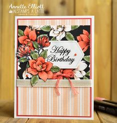 AEstamps a Latte. Hand Made Greeting Cards, Making Greeting Cards, Birthday Greeting Cards, Greeting Cards Handmade, Birthday Greetings, Happy Birthday, Birthday Cards For Women, Birthday Images, Birthday Quotes