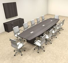 Boat Shape Counter Height Feet Conference Table OFCONCT - Conference table shapes