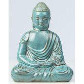 Found it at Wayfair - Glazed Ceramic Large Peaceful Buddha Statue