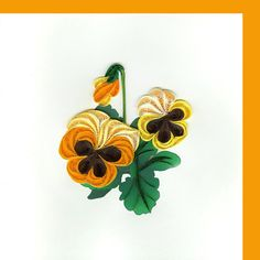 Pansies 6 x 6 by QuillingCard on Etsy Paper Quilling Flowers, Quilling Craft, Quilling Designs, Quilling Ideas, Diya Designs, Paper Art, Paper Crafts, Quilling Tutorial, Craft Day