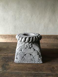 Stoere betonnen poer kandelaar landelijke stijl grijs beton