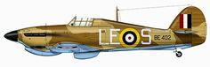 Hurricane MkIIc Trop RAF 242Sqn LES BE402 Malta Nov 1941