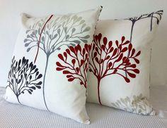 Handmade vanilla floral cushion covers