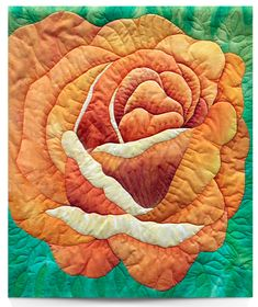 """""""Let There Be Peace"""" by Mary Ann Andrews. 2014 Quilt Show Winners - Glendale Quilt Guild. Butterfly Quilt, Origami, Flower Quilts, Thread Painting, Landscape Quilts, Flower Applique, Small Quilts, Applique Quilts, Fabric Art"""